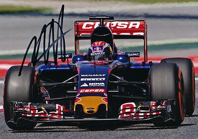 Max Verstappen Signed 5X7 inches 2015 Toro Rosso F1 Photo