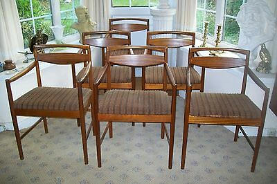Rare Vintage Retro Mcintosh Teak Carver Dining Chairs - In Need Of Tlc - 6