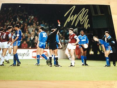 100% Signed Very Rare Julian Dicks West Ham A4 Photo Autograph 3