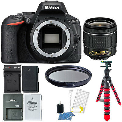 Nikon D5500 24.2 MP Digital SLR Camera with Valuable Top Accessory Bundle