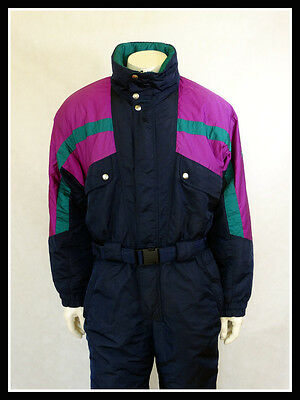 Vintage Retro Ski Suit All in One 80'S 90'S FILA Size: D 54