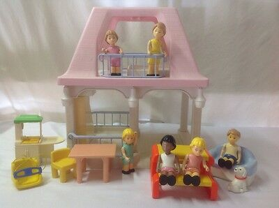 Vintage Little Tikes Grandmas Doll House With Furniture And People