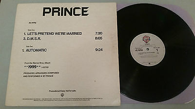 "Prince ""let's Pretend We're Married"" Rare Usa Promo Vinyl"