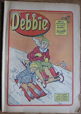 #46 DEBBIE COMIC FIRST CHRISTMAS ISSUE 29th DECEMBER 1973 XMAS STEVIE WONDER