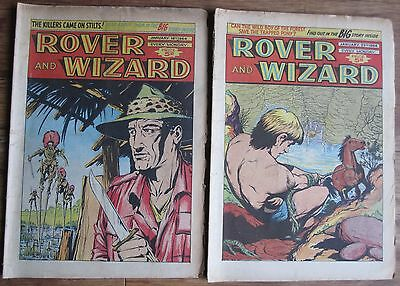 ROVER AND WIZARD COMIC TWO CONSECUTIVE ISSUES 18th, 25th JANUARY 1964
