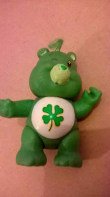 care bear good luck 1983 vintage 80s toy green posable