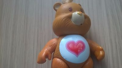 care bear tenderheart brown with heart on tummy vintage 80s toy poseable
