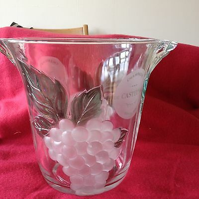 Glass Champagne/ice Bucket - Limited Edition 1980's