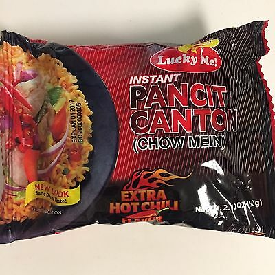 20 packs Lucky Me Pancit Canton  Extra Hot Chili Flavor Instant Noodles