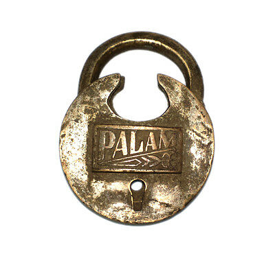 An Attractive Vintage very Old genuine Brass made Padlock Lock with a Key INDIA