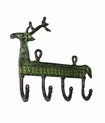 Attractive brass made REINDEER Designed COAT HOOK Very Beautiful from India RARE