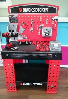 smoby black and decker supercentre kids workbench and tools