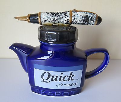 Quick Brew Pen and Ink Bottle Teapot by Swineside Teapottery