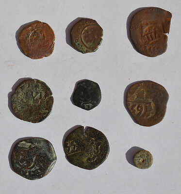 Lot 9 Ancient Pirate & Colonial Spanish Coins. 300 - 400 Years Authentic. Nº 60