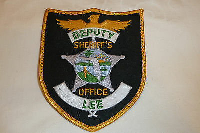 LEE COUNTY FLORIDA Police Patch Sheriff Dept Polizei Abzeichen