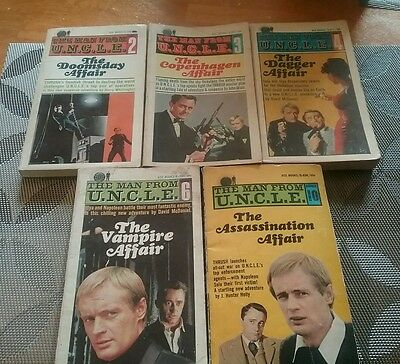 The Man From UNCLE book lot books#2,3,4,6,10 plus 1Hardcover