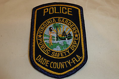 VIRGINIA GARDENS FLORIDA Police Patch Sheriff Dept Polizei Abzeichen