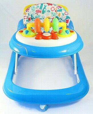 Blue Activity Walker  Adjustable Musical Baby Activity Toy Lights & Sounds