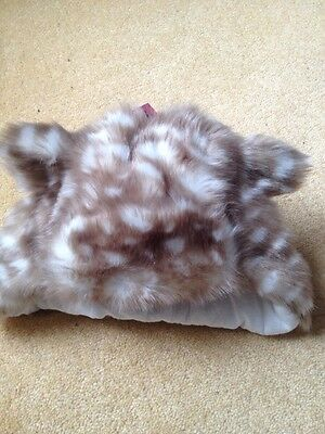 BNWT Marks&Spencer GIRL ANIMAL PATTERN FUR HAT & EARS Size 3/6 Years