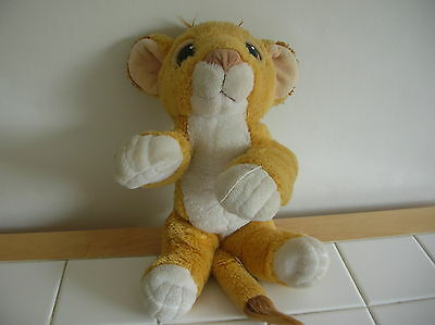 Vintage Disney Simba Toy From 1990S