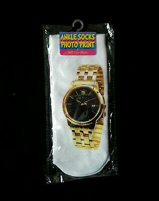 Novelty Ankle Socks Great Kids Gift Idea Watch Bling Print Sent 1St Class