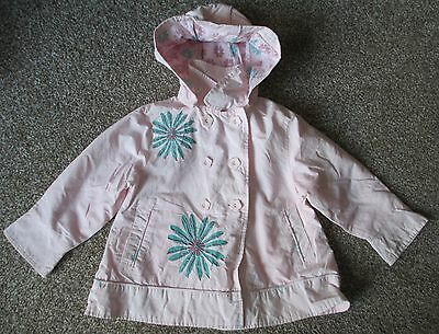 Girls Age 2/3 Years John Lewis Embroidered Coat - Used.