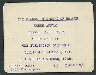 GB - 'X' Branch Ministry of Health Ticket