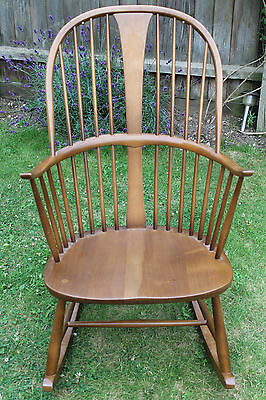Ercol Windsor Rocking Chair 473  with Turned Spindles Ship Worldwide