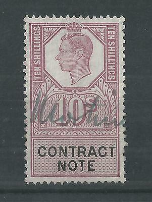 GB GVI 10/- Contract Note