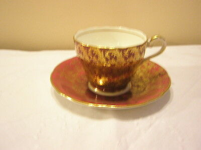 Vintage Aynsley  Cup & Saucer  C869 Ruby/Gold