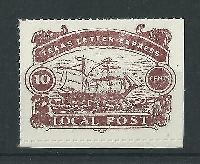 US - Texas Letter Express - Local Post 10c