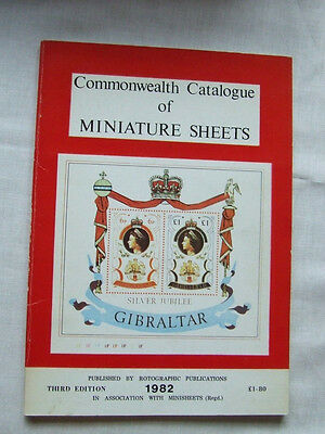 COMMONWEALTH MINIATURE SHEETS (STAMPS) - By ROTOGRAPHIC PUB'S - 1982, VGC