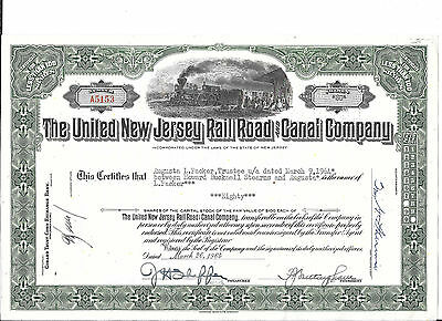 United New Jersey Railroad And Canal---1961---Stock Certificate