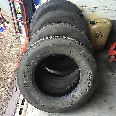 4 x 215/75 R17.5 Tyres Used