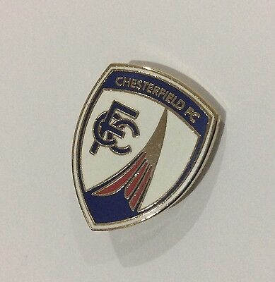 CHESTERFIELD Football Club Badge FC. Enamel CFC Supporters Pin CHRISTMAS GIFT