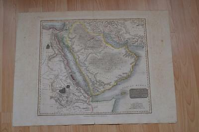 antique map of Arabia Thomsons New General Atlas 14th July 1814 as found