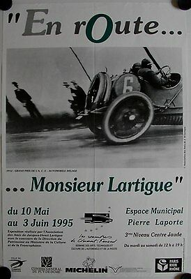 Affiche EN ROUTE…MONSIEUR LARTIGUE Exposition Photo 1995