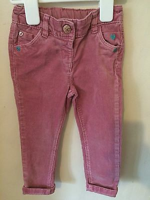 NEXT Pink Corduroy Trousers 12-18 Months Adjust able Waist