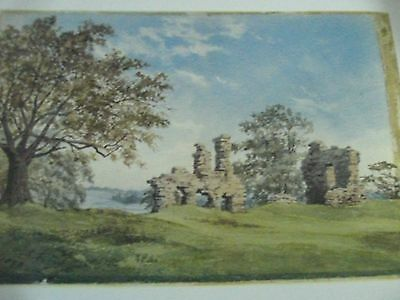 Sandal Castle Watercolour Painting Print By Wakefield Artist Louisa Fennell 1876