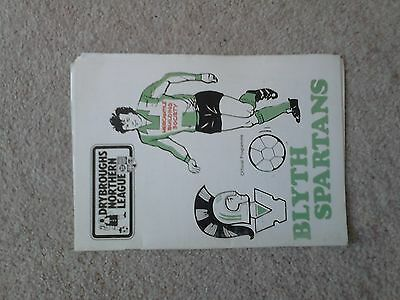 Blyth Spartans v. Guisborough Town 28/2/88 Northern League Division 1
