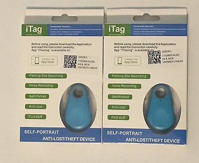 LOT of 2 iTag Self-Portrait Anti-Lost/Theft Device