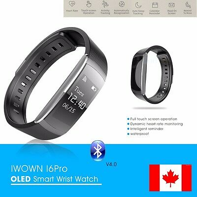 I6 Pro Bluetooth Sport Smart Heart Rate Watch Fitness Tracker Bracelet Wristband