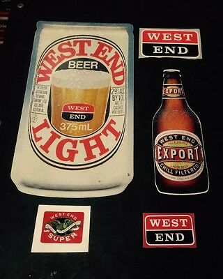 West End Stickers x 5 Various.