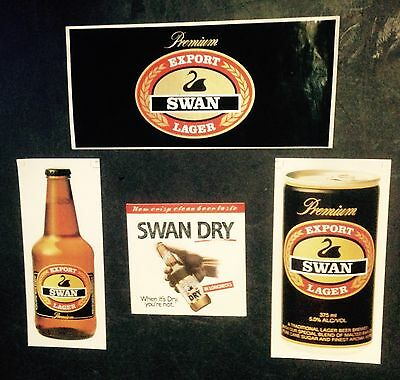 Swan Stickers x 4 Various.