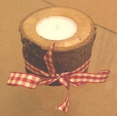 Rustic Wooden Candle Tea Light Christmas Wooden