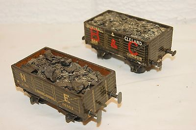 O gauge COARSE SCALE 2x Leeds (or similar) Open Coal Wagon B&C and NE with loads