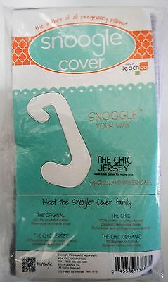 Leachco Snoogle Chic Total Body Pillow Jersey Knit Replacement COVER with Zipper