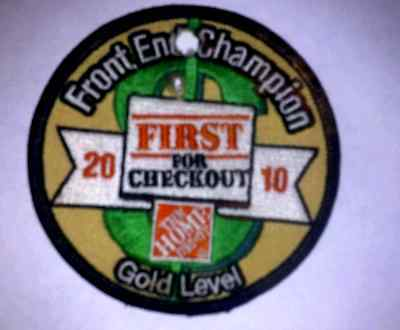 Lmh Patch Badge The Home Depot Front End Champion Gold Level