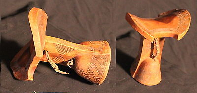 Ethiopian hand carved wooden stool Hamar Tribe