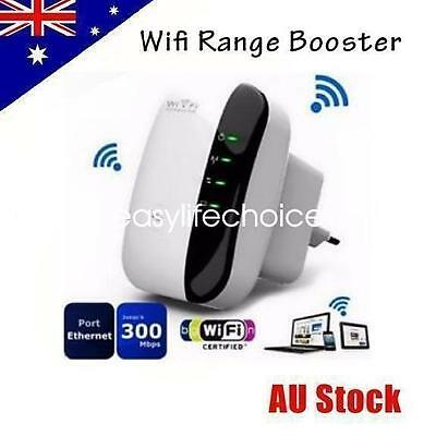 Wifi Repeater Booster Range Router Extender 300Mbps Wireless N 802.11 AP AU Plug
